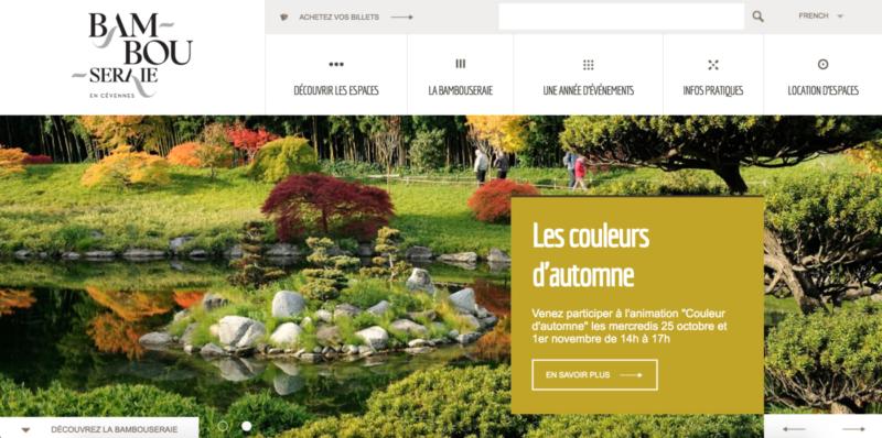 Page d'accueil de la Bambouseraie