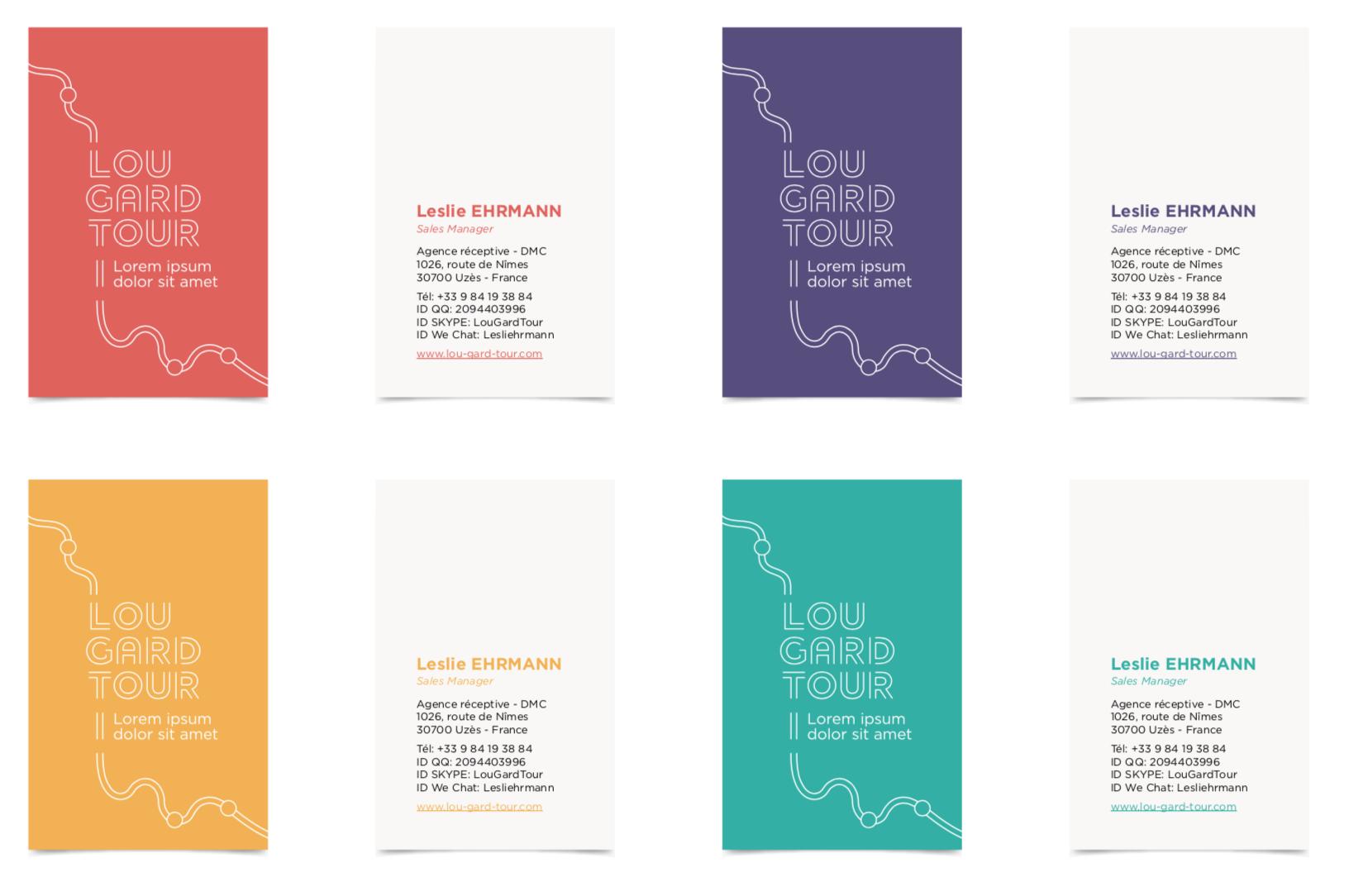 Cartes de visite Lou Gard Tour